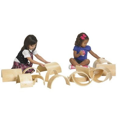 ECR4Kids 10 Piece Wooden Tunnels and Arches