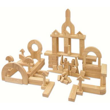 ECR4Kids 118 Piece Hardwood Unit Block Set