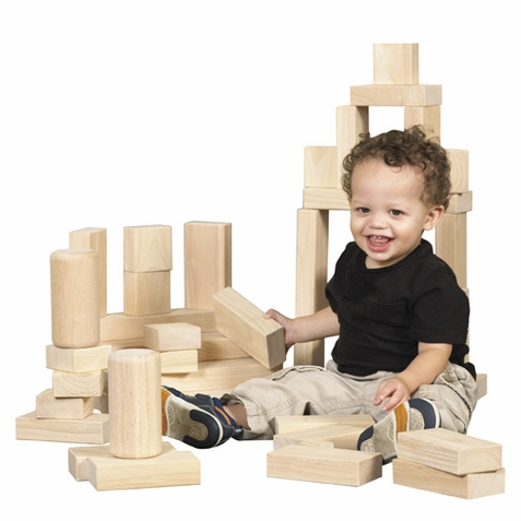 ECR4Kids 154 Piece Hardwood Unit Block Set