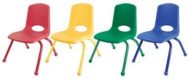 "ECR4Kids 16"" Seat Height Stacking Chair - Set of 6"