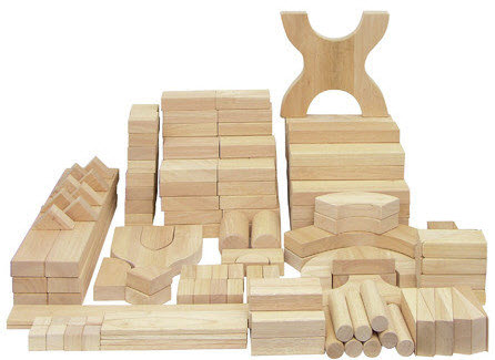 ECR4Kids 170 Piece Hardwood Unit Block Set