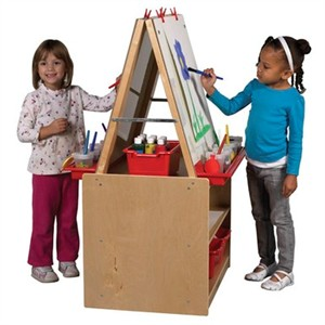 ECR4Kids 2 Station Art Easel with Storage - Out of Stock