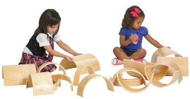 ECR4Kids 20 Piece Wooden Tunnels & Arches Block Set