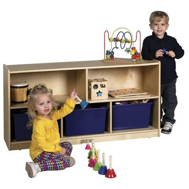 "ECR4Kids 24"" Birch Storage Cabinet - 5 Compartments"