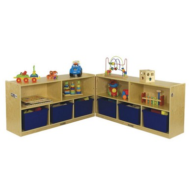 "ECR4Kids 24"" Fold and Lock Cabinet - 5 Compartment"