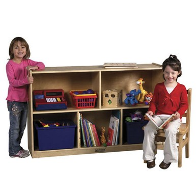 "ECR4Kids 30"" Birch Storage Cabinet - 5 Compartments"