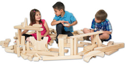 ECR4Kids 340 Piece Hardwood Unit Block Set