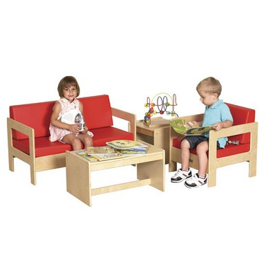 ECR4Kids 4 Piece Birch Living Room Set