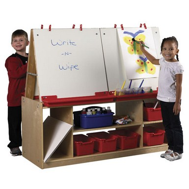4 Station Children's Art Easel with Storage