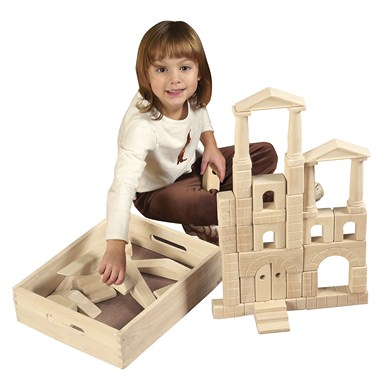 ECR4Kids 48 Piece Architectural Blocks with Carry Case