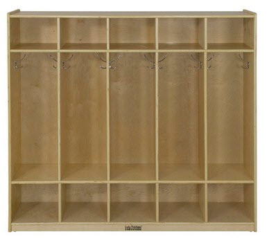 ECR4Kids 5-Section Birch Straight Coat Locker
