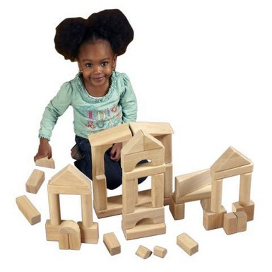 ECR4Kids 75 Piece Hardwood Unit Block Set