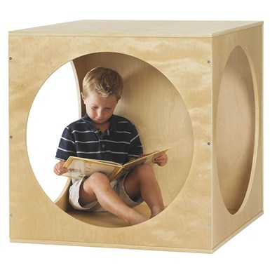 ECR4Kids Birch Playhouse Cube