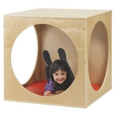 ECR4Kids Birch Playhouse Cube with Mat