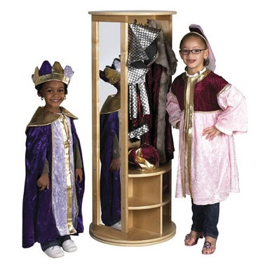 ECR4Kids Birch School Revolving Dress Up Carousel