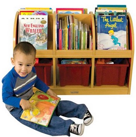 ECR4Kids Colorful Essentials 2-Sided Book Stand -Toddler