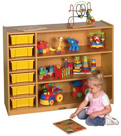 ECR4Kids Colorful Essentials Multi-Purpose Cabinet-3 Level