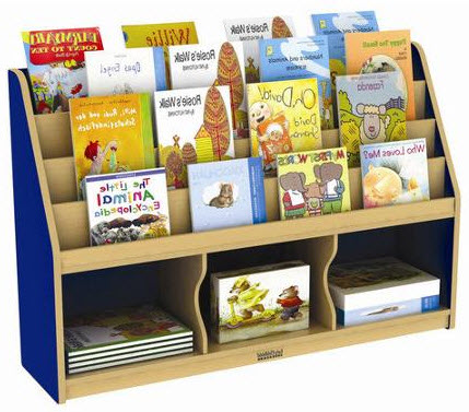 ECR4Kids Colorful Essentials Storage Book Display - 3 Comp