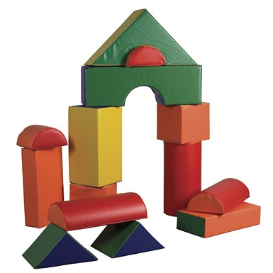 ECR4Kids SoftZone 14 Piece Jumbo Soft Blocks