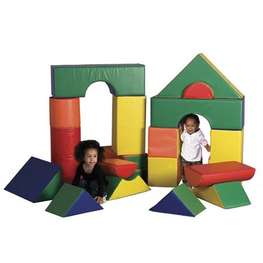 ECR4Kids SoftZone 21 Piece Jumbo Soft Blocks
