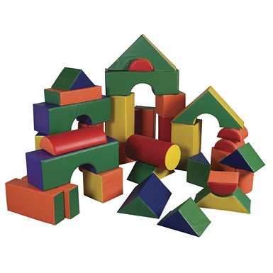 ECR4Kids SoftZone 35 Piece Jumbo Soft Blocks