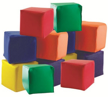 ECR4Kids SoftZone Patchwork Toddler Blocks
