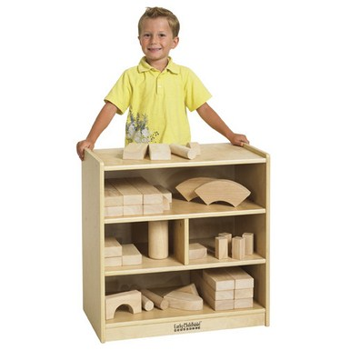 ECR4Kids Wooden Block Storage Cabinet - Small