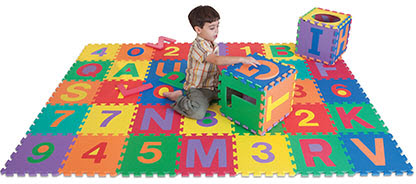 Edu Tile Letters & Numbers 36 Piece Set - Free Shipping