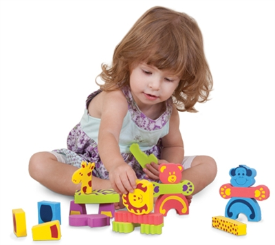 Edushape Animals Mix N Match - 46 Piece Set