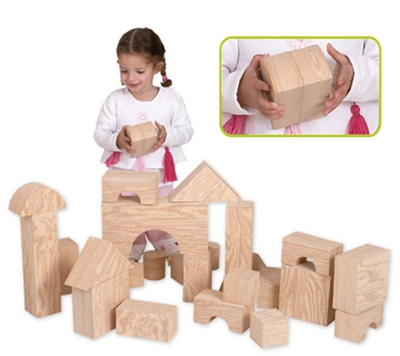 Edushape Big Wood-Like Blocks