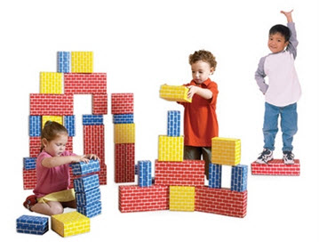 84 Piece Edushape Corrugated Blocks