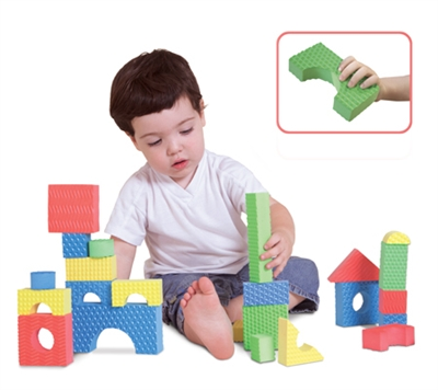 Edushape Textured Blocks - 30 Piece Set - Free Shipping