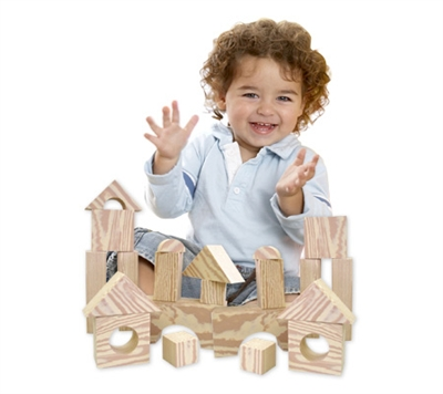 Edushape Wood-Like Soft Blocks - 30 Piece Set