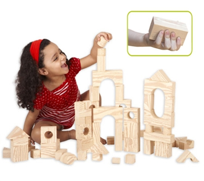 Edushape Wood-Like Soft Blocks - 80 Piece Set