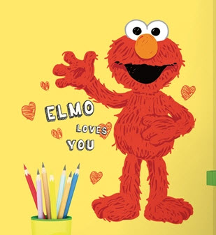 Elmo Loves You Wall Decal