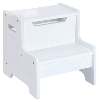 Expressions White Step Stool - Free Shipping