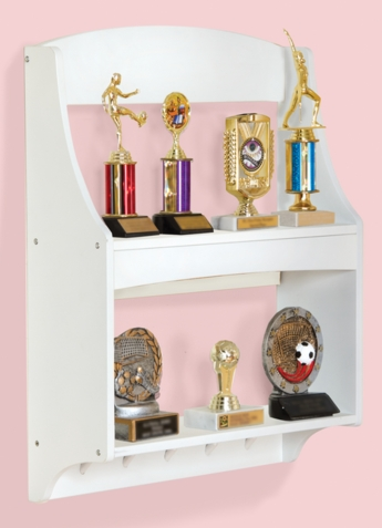 Expressions White Trophy Rack - Free Shipping