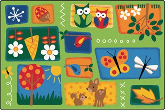 Faces of Nature Preschool Rug 4' x 6'
