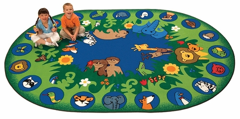 Faith Based Rug Circle Time Garden of Eden 6'9 x 9'5