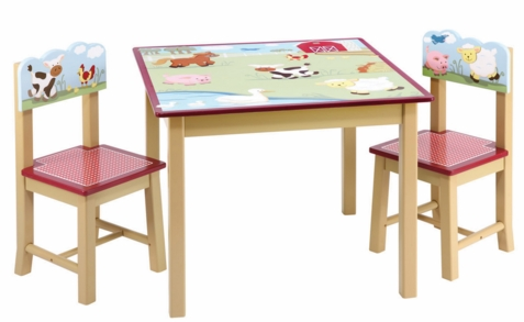 Farm Friends Table & Chair Set - Free Shipping