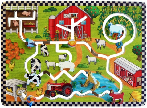 Anatex Farm Wall Panel Activity Toy