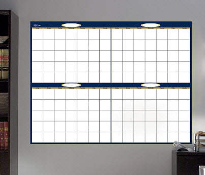 Fathead Dry Erase Blank 4 Month Calendar - Out of Stock