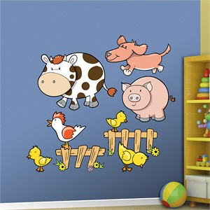 Fathead Farm Animals Decal Group One