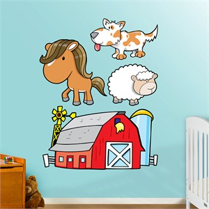 Fathead Farm Animals Decal Group Two