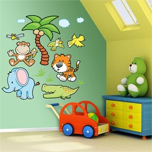 Fathead Jungle Animals Group 2 Wall Graphics