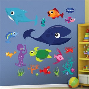 Fathead Sea Creatures Decal Group One