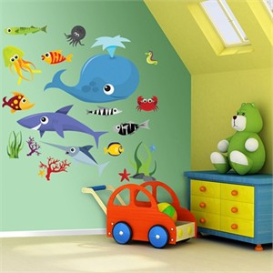 Fathead Sea Creatures Decal Group Two
