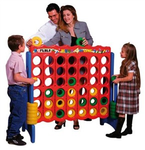 ECR4Kids Jumbo 4-To-Score Ring Dropping Game