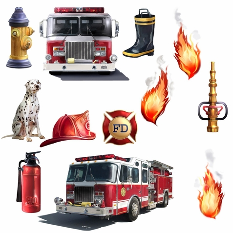 Fire Brigade Peel & Stick Applique