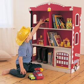 KidKraft Firehouse Bookcase -  Out of Stock
